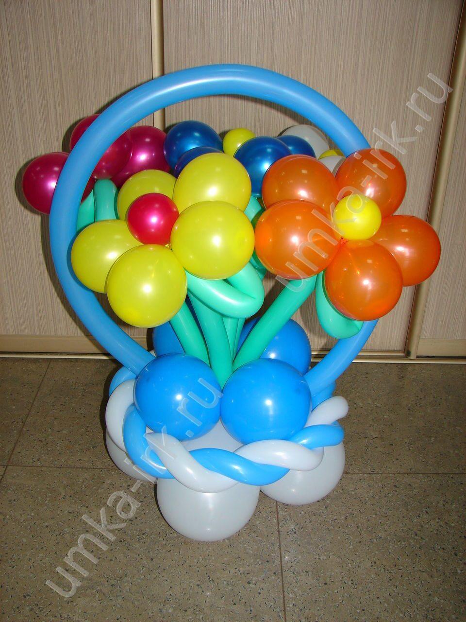 Как сделать горшок из шаров